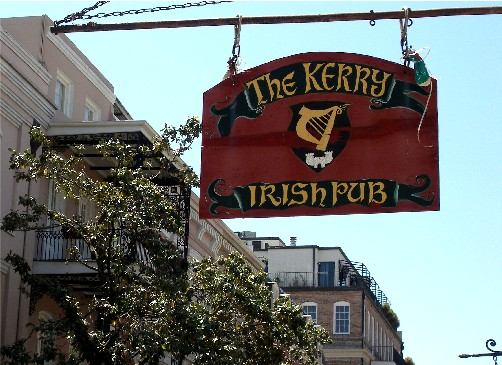 Kerry Irish Pub on Decatur Street in the French Quarter.