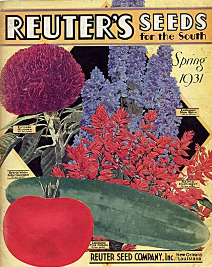 A colorful 1931 seed catalogue from the Reuter Seed Company (named for its German founders).