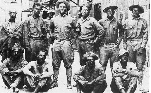 men of the 10th cavalry taken