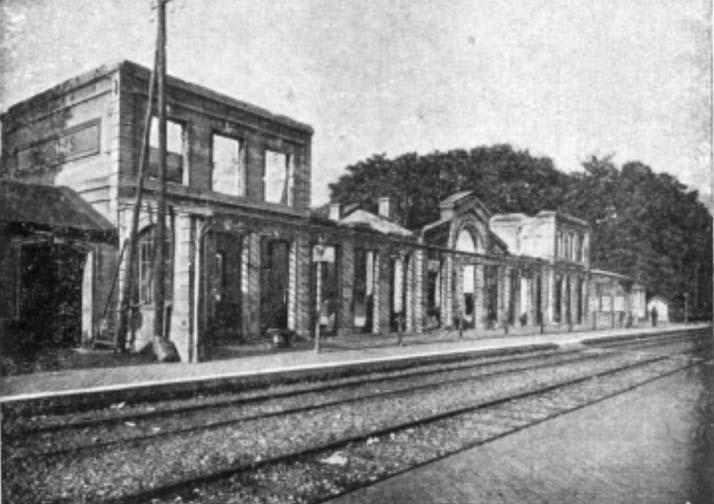 Gare incendiée